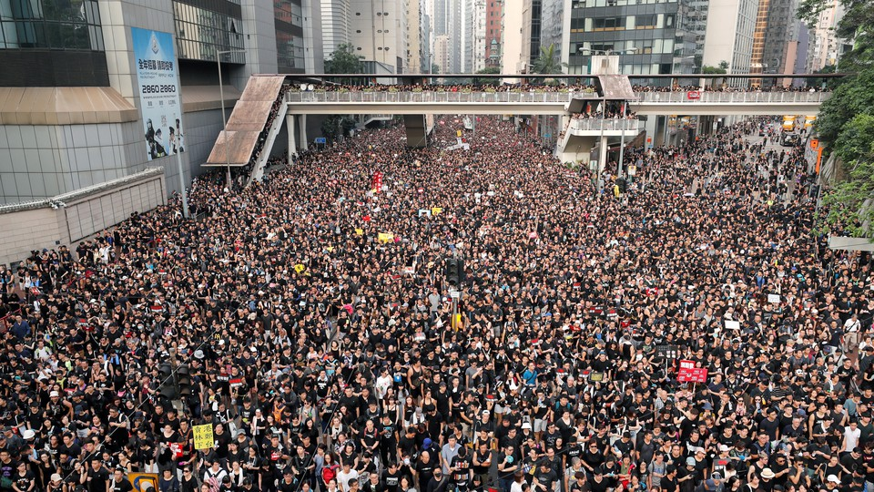 Demonstrators massed in Hong Kong over the weekend, demanding the withdrawal of a controversial extradition bill.