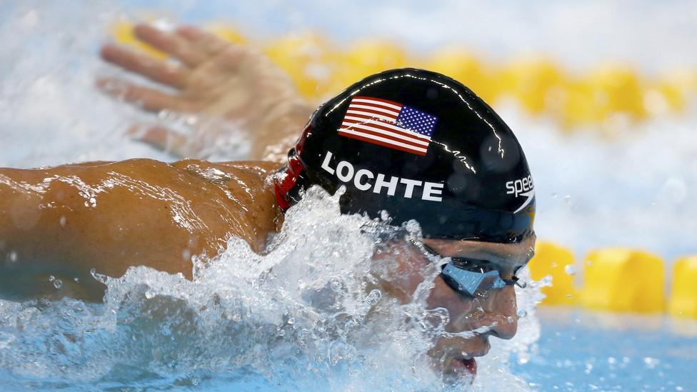 Ryan Lochte swims