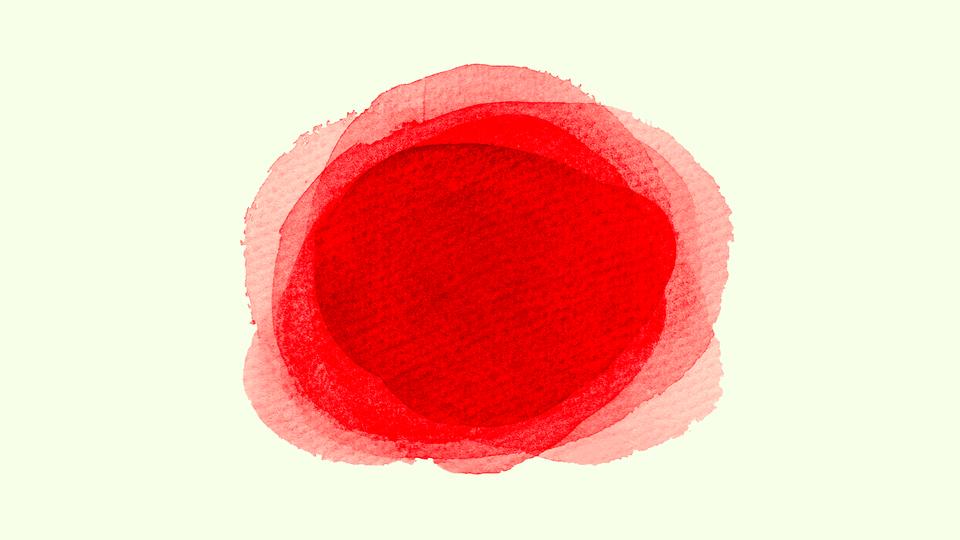 A red dot