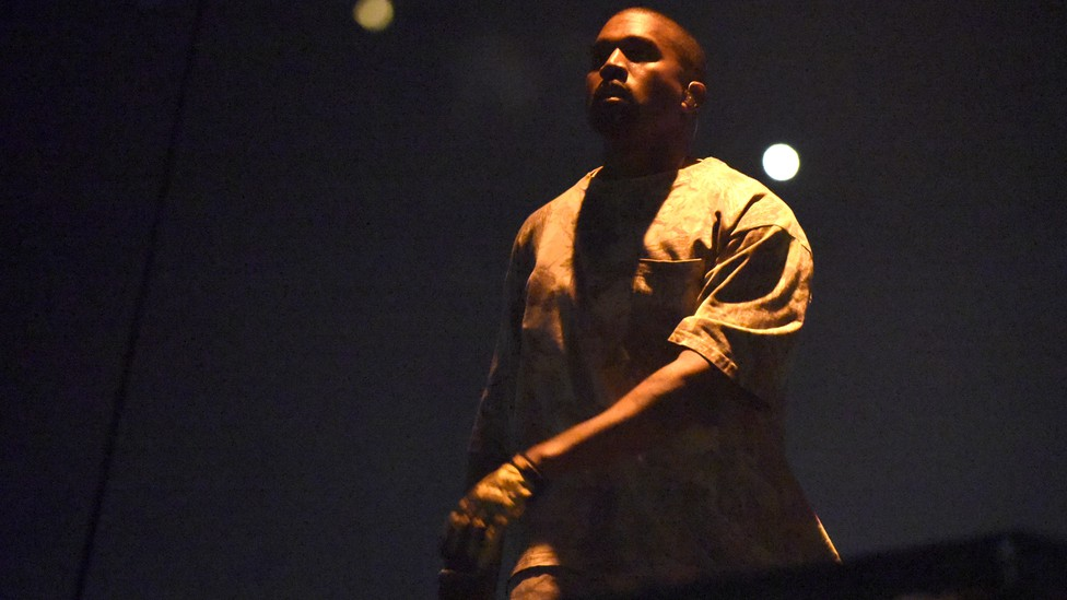Kanye West performs at the United Center on October 7, 2016, in Chicago