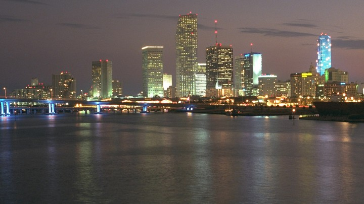 The Miami skyline in 1996, the year of the SunTrust bank robbery.