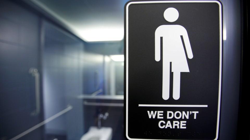 A sign at a hotel in Durham, North Carolina
