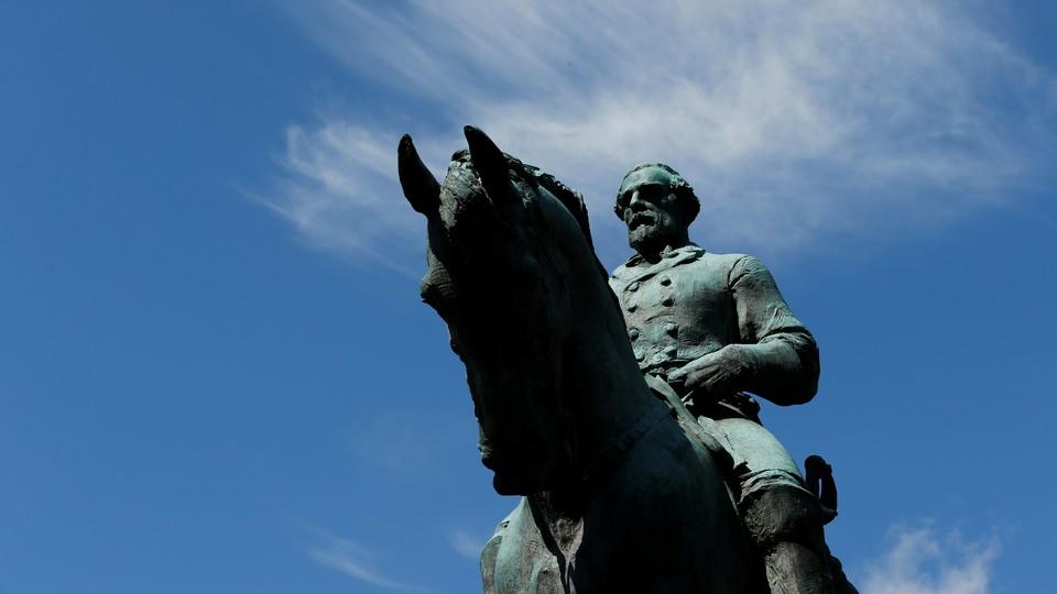 The statue of Confederate General Robert E. Lee in Charlottesville, Virginia