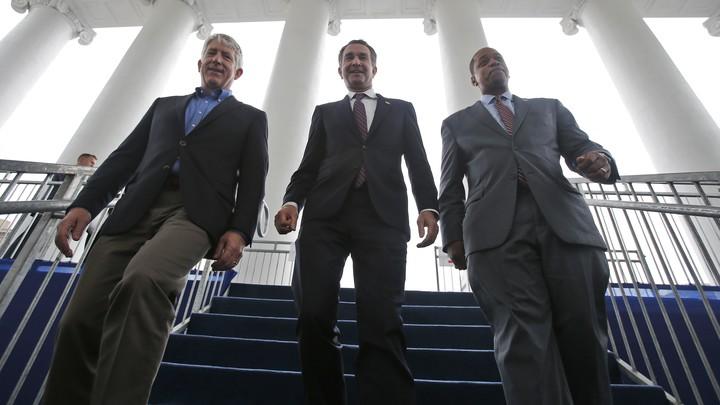 Mark Herring, Ralph Northam, and Justin Fairfax