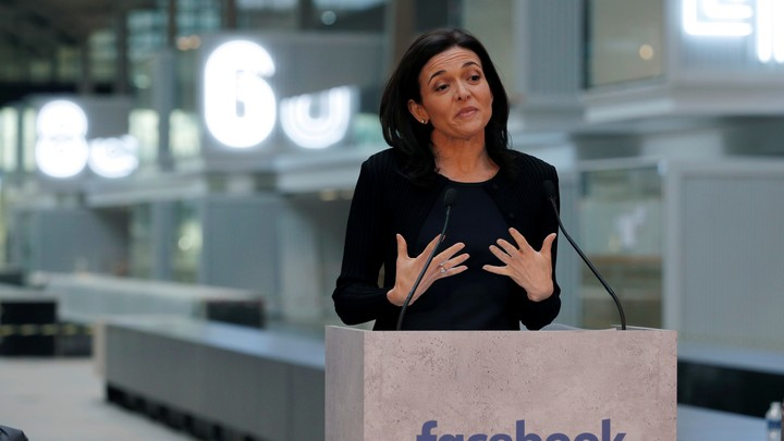 Sheryl Sandberg, Facebook's chief operating officer, delivers a speech in Paris earlier this year.