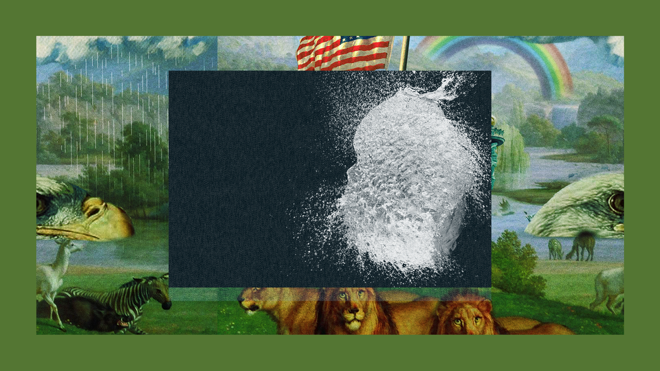 A photo of a pile of white powder implied to be drugs. The image is set into a frame featuring The Experiment's show art.
